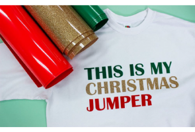 Christmas Jumper Close Up HTV