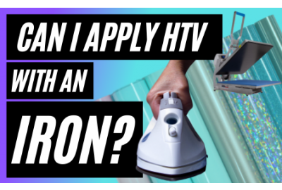 Can I use an iron to apply my HTV? Iron vs Heat Press Comparison
