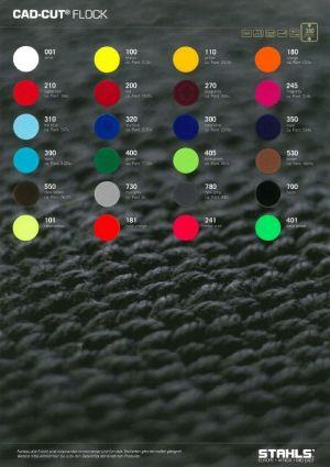 CAD-CUT® FLOCK Colour Card