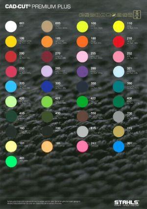 CAD-CUT PREMIUM PLUS Colour Card
