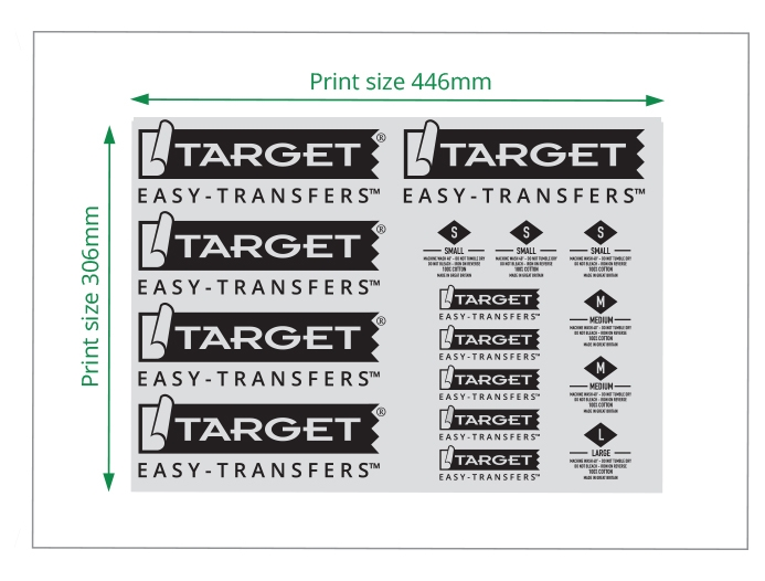 easy heat transfers one colour sheet