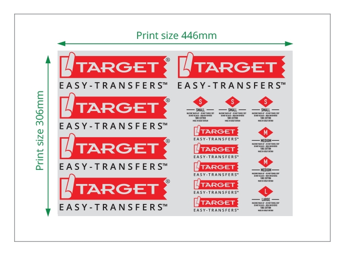 two colour easy heat transfers