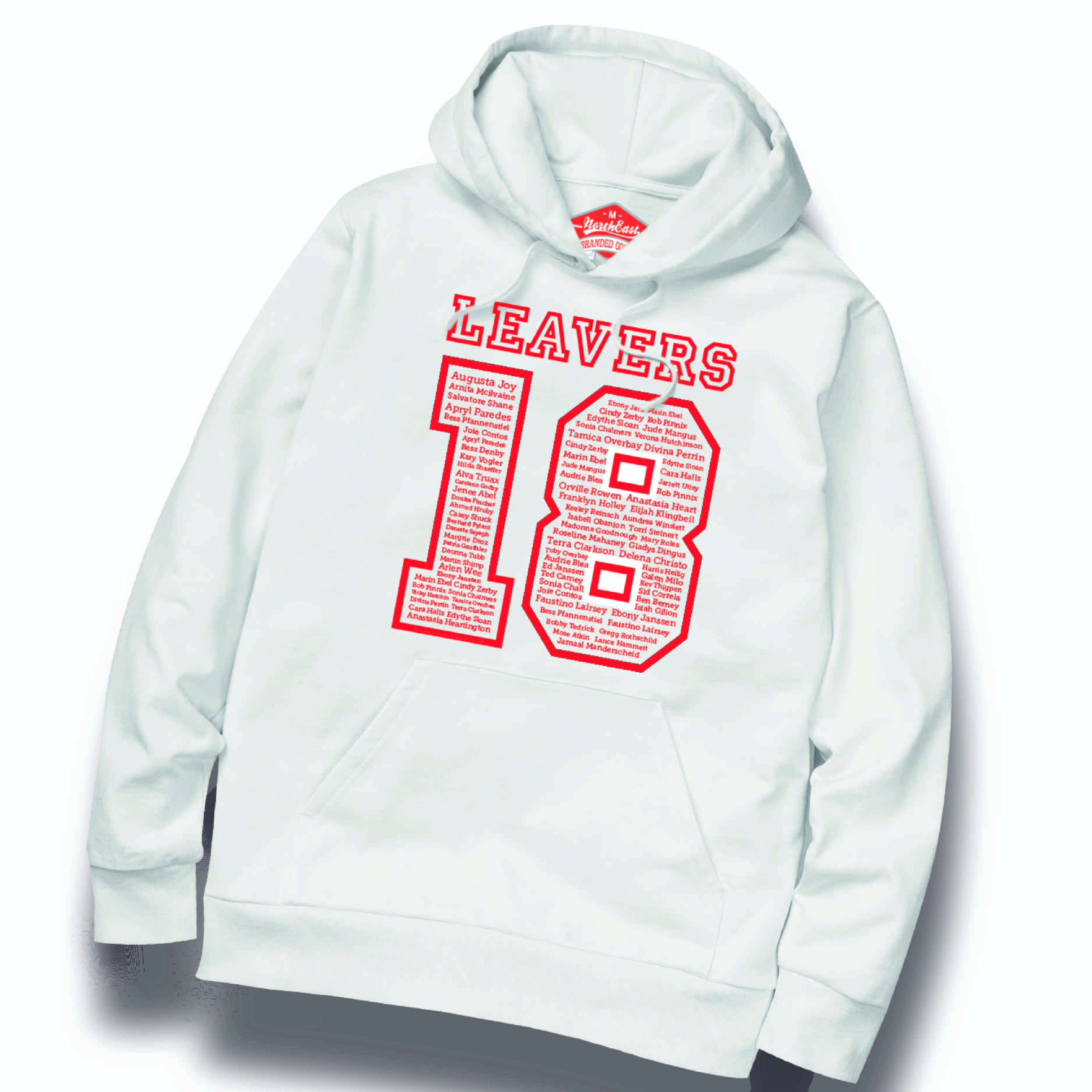 custom transfers for leavers hoodies