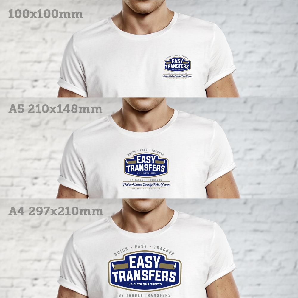 three colour easy heat transfers