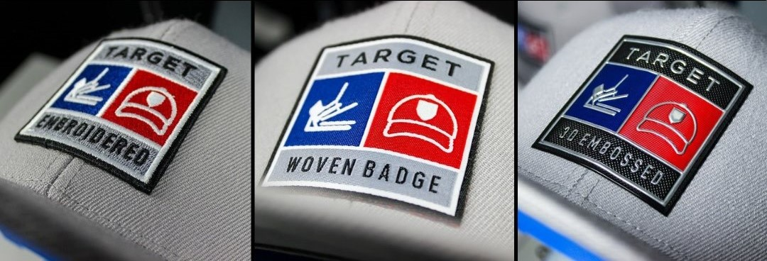 embroidered badge on hat heat press 360