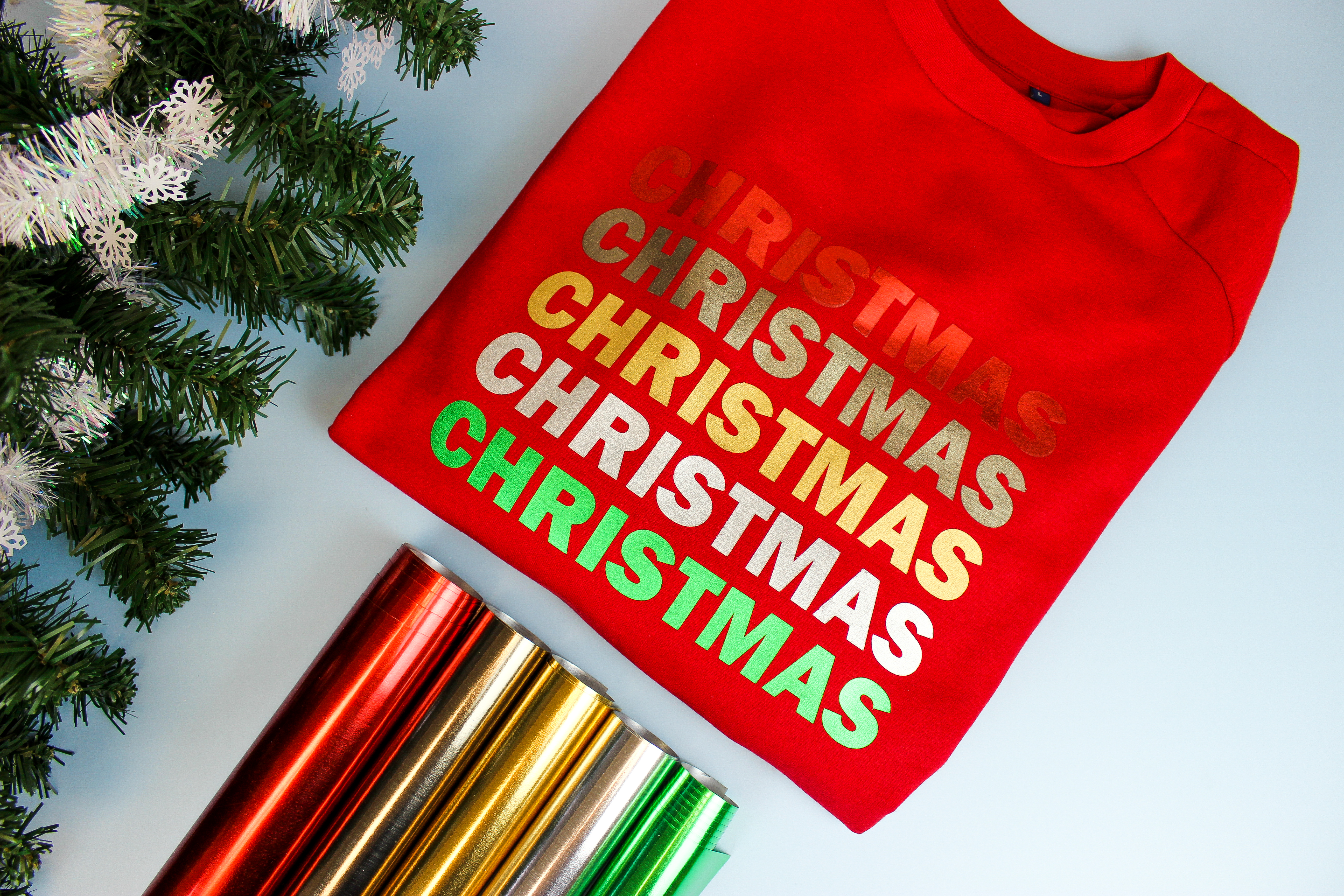 Stahls' Christmas Stretch Metallic HTV
