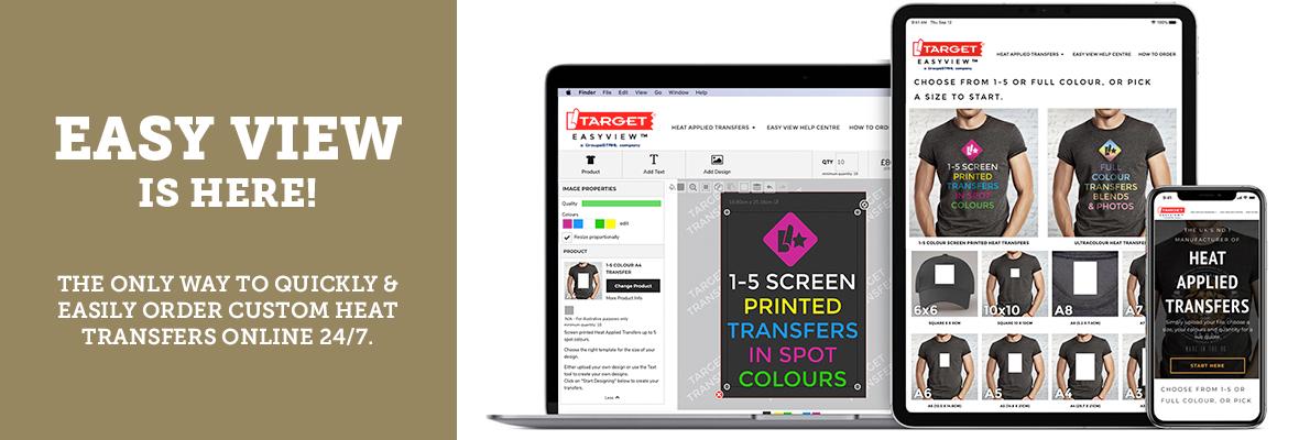 easy view for custom heat transfer online ordering