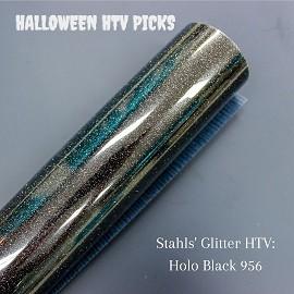 Black Glitter Halloween HTV