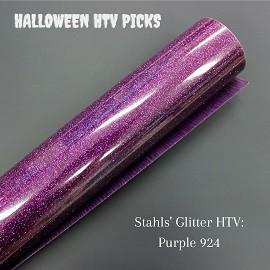 Purple Glitter Halloween HTV