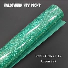 Green Glitter Halloween HTV