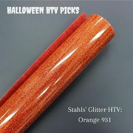 Orange Glitter Halloween HTV
