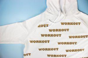 Flat lay premium plus workout hoodie