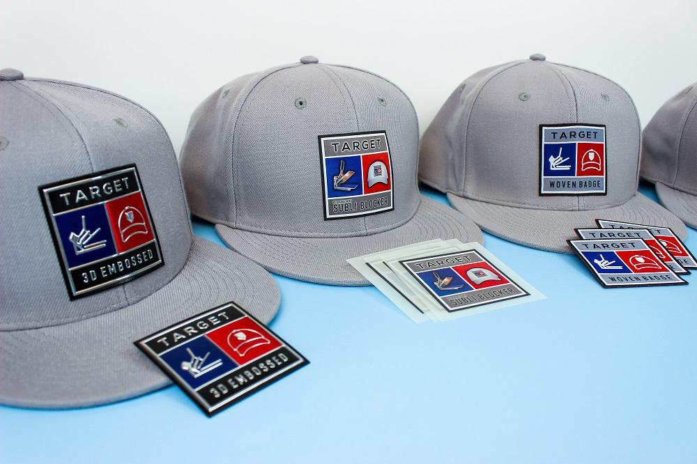 heat applied custom badges target transfers